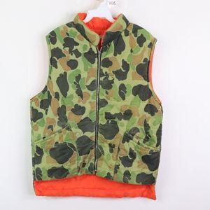 Vtg 70s Mens Medium Reversible Camo Hunting Vest